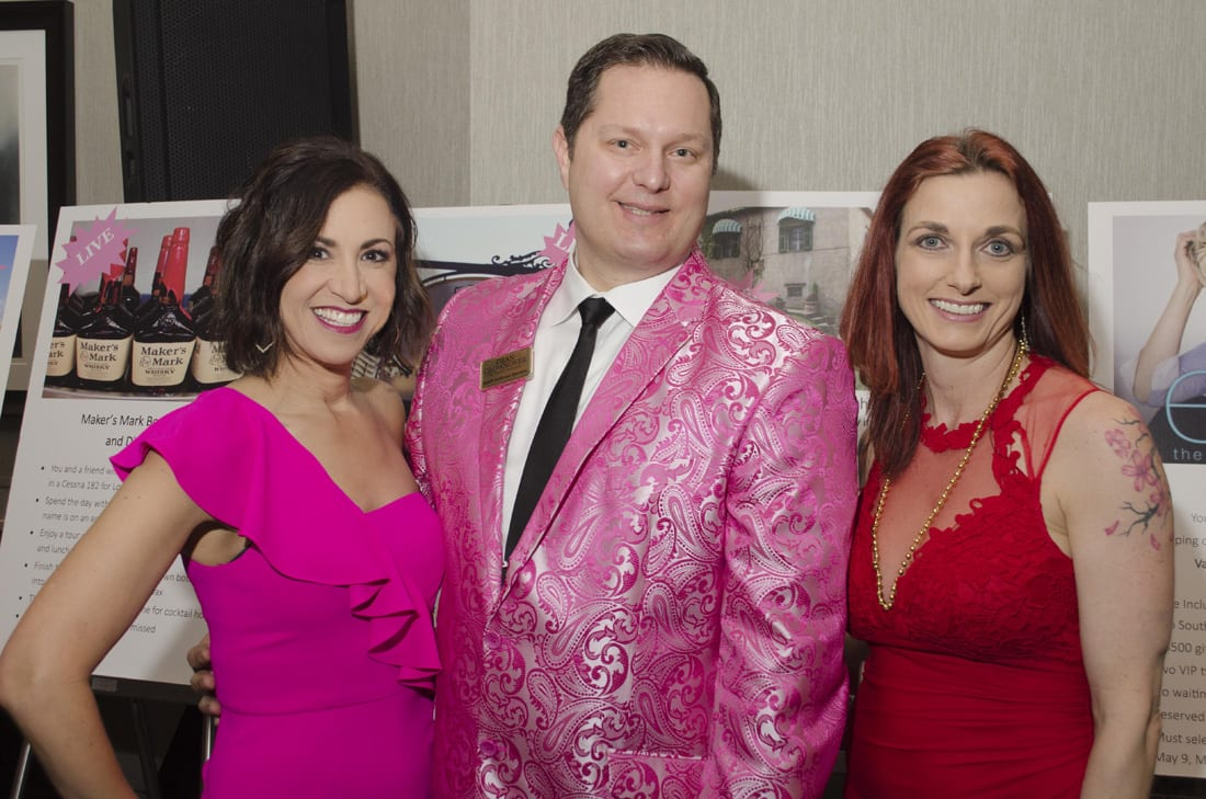 Fm Left: Dana Barrett - MC (Radio Personality), Dean Crownover - Auctioneer, Rebecca Cowens-Alvarado Executive Director Turning Point