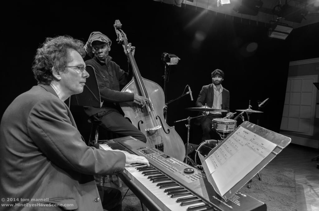 Andrew Fazackerley's current trio: Ramon Pooser on bass and Emrah Kotan on drums.