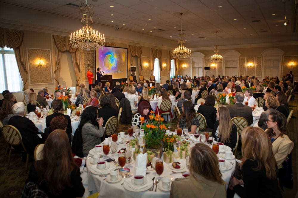Crowds gathered over lunch to support the Thomas F. Chapman Family Cancer Wellness program at Piedmont Atlanta Hospital.
