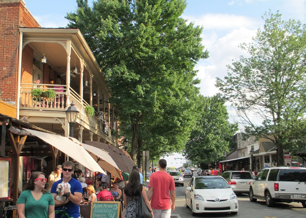 A stroll down Roswell's Canton Street offers locally owned shops, restaurants and art galleries.