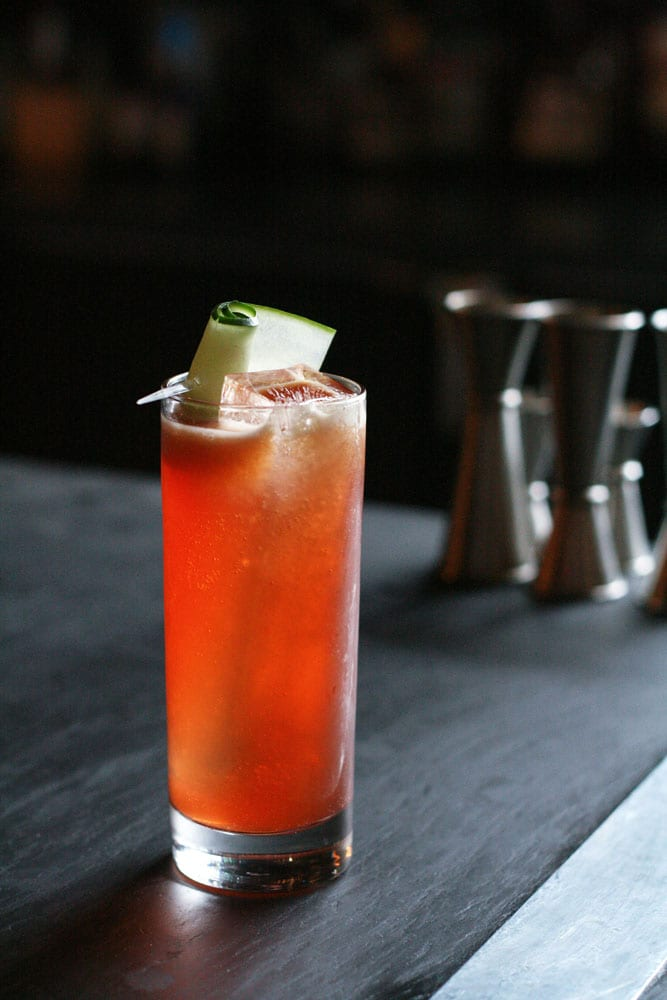 This melon-hued Pimm's Cup from Holeman and Finch packs a pretty punch.