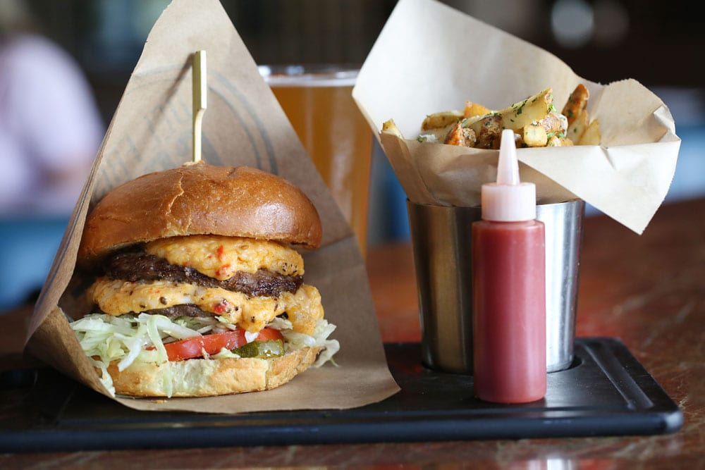 Del Frisco's Grille's Pimento Cheese Burger was cooked to perfection.