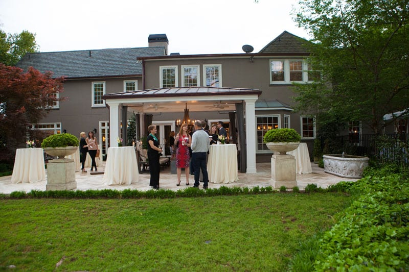 Attendees gather at the home of HGTV's Vern Yip to celebrate the Brookwood Hills Tour of Homes.