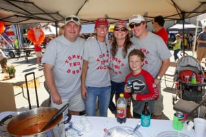 Team Tommy Two Dogs mixes the Brookhaven Chili Cook-Off with family and football. Photo: Courtesy of Armus Media Group