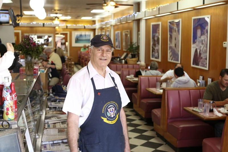 Demos Galaktiadis, who came to America from Greece as a young man, has shepherded White House restaurant on Peachtree Road since 1971. He gets our vote. Photo: Sara Hanna Photography