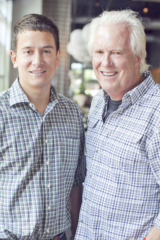 The restaurant business was a calling for both Justin Amick and his father Bob Amick.