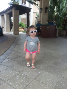 Sporting too-cool shades, the writer's daughter exits the beach club after a &#091;...&#093; </p srcset=