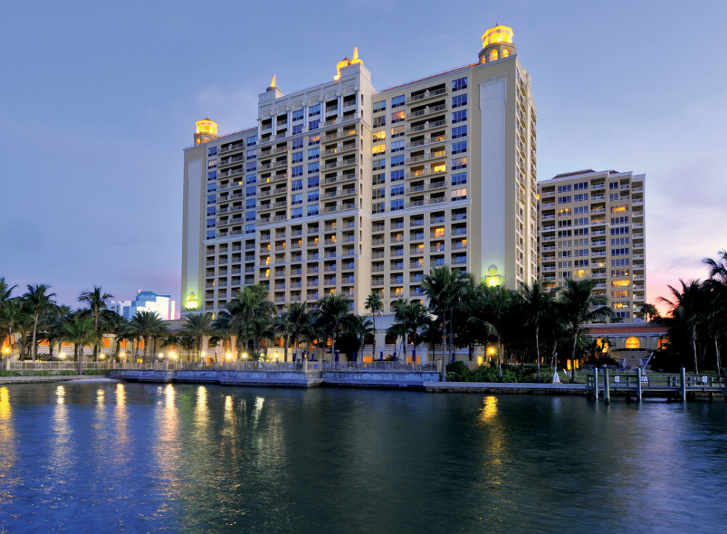 The Ritz- Carlton, Sarasota overlooks a marina, as do many of its guest rooms.