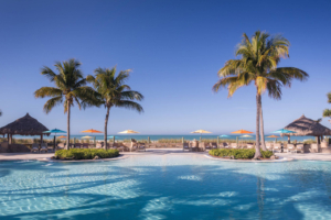 The Beach Club on Lido Key is the reason to visit this upscale Florida beach resort.