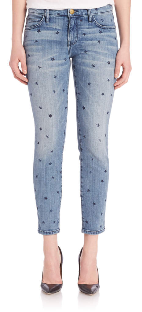Current/Elliott Mini Star Print Stiletto Jeans - Available for $258 at Saks Fifth Avenue