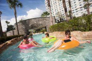 The Hilton Bonnet Creek's 3-mile lazy river makes a splash with kids and adults alike.