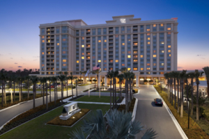 The Waldorf Astoria Orlando combines the elegance of the original Waldorf in New York City with a tropical Florida feel.