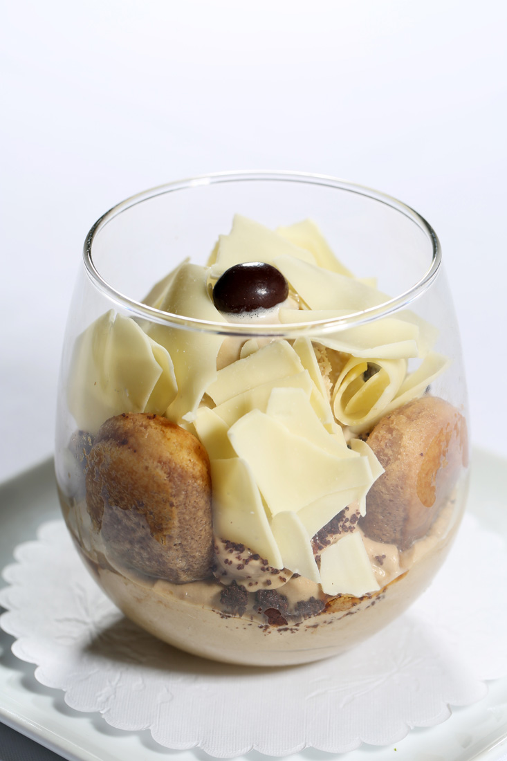 Davio's tiramisú is a layering of ladyfingers, espresso, mascarpone and espresso ice cream.