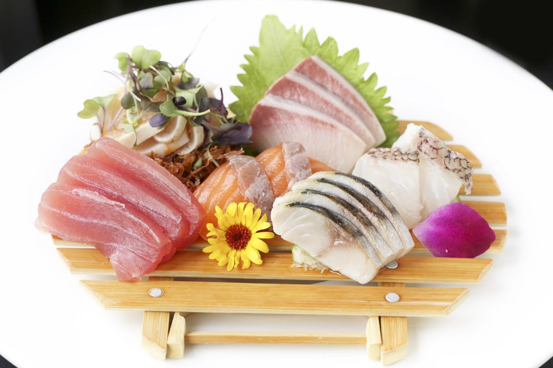 Sashimi platters are stunning with minimalist simplicity.