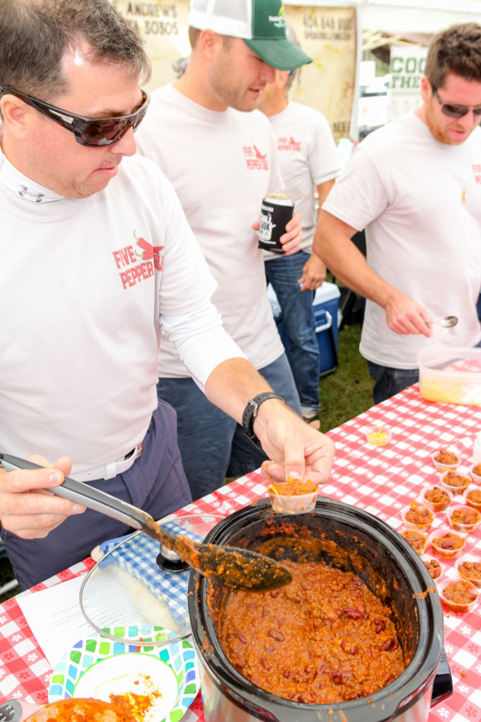 Teams of talented home and restaurant cooks dish out bowlfuls of tasty chili at Brookhaven's annual chili cook-off. Get it while it's hot!