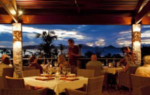Enjoy an evening breeze and sunset views at open-air ZoZo's restaurant.