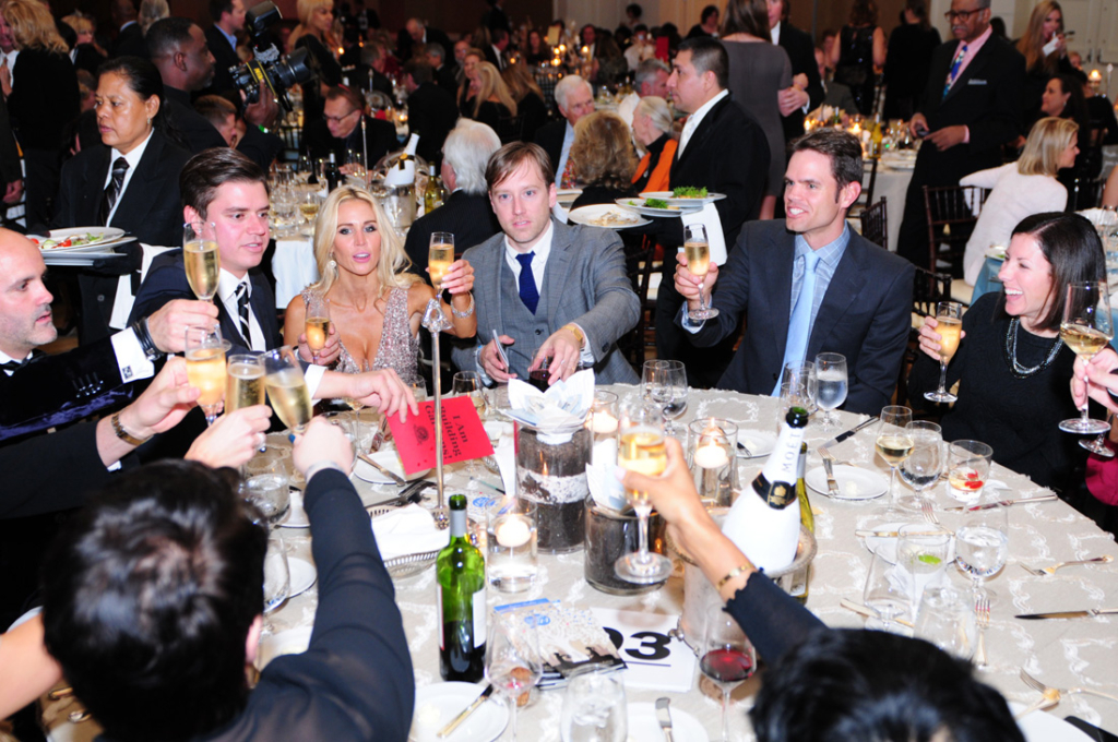 Ted Turner and other distinguished guests raise a glass to honor champions of the environment at the Captain Planet Foundation Benefit Gala.