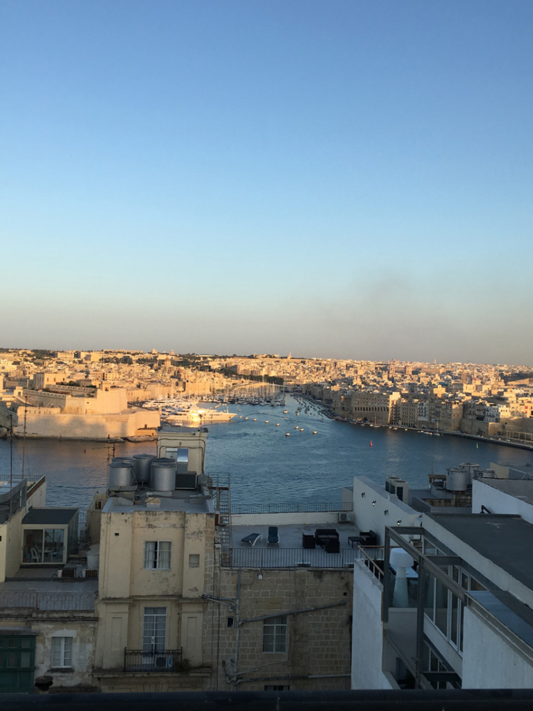 The view from Valletta overlooking Grand Harbor.