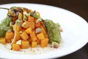 Spice roasted squash is a memorable star of flavors and textures
