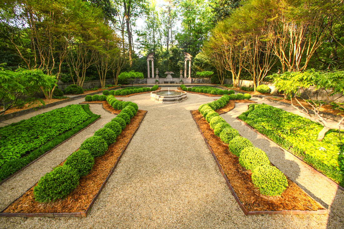 The Boxwood Garden Above And Memorial Quarry Garden Below Are Just Two Of  Several On Display At The Atlanta History Center For National Garden Day.
