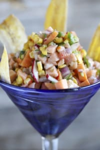 For a light and healthy meal, opt for the leche de tigre ceviche.