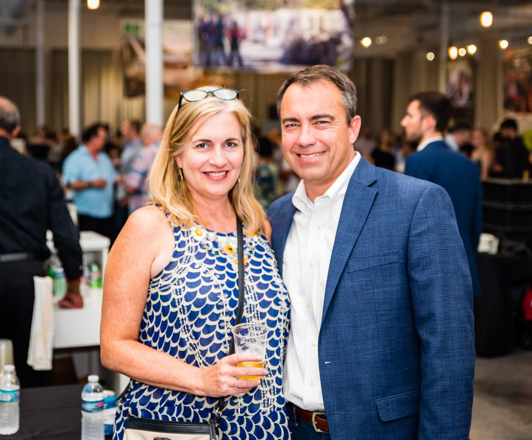 Simply Buckhead Magazine August 15, 2019 Eighth Annual Eats & Beats presented by Children of Conservation Left to Right: Scott and Debra Leerssen  Photo Credit: Henri Hollis