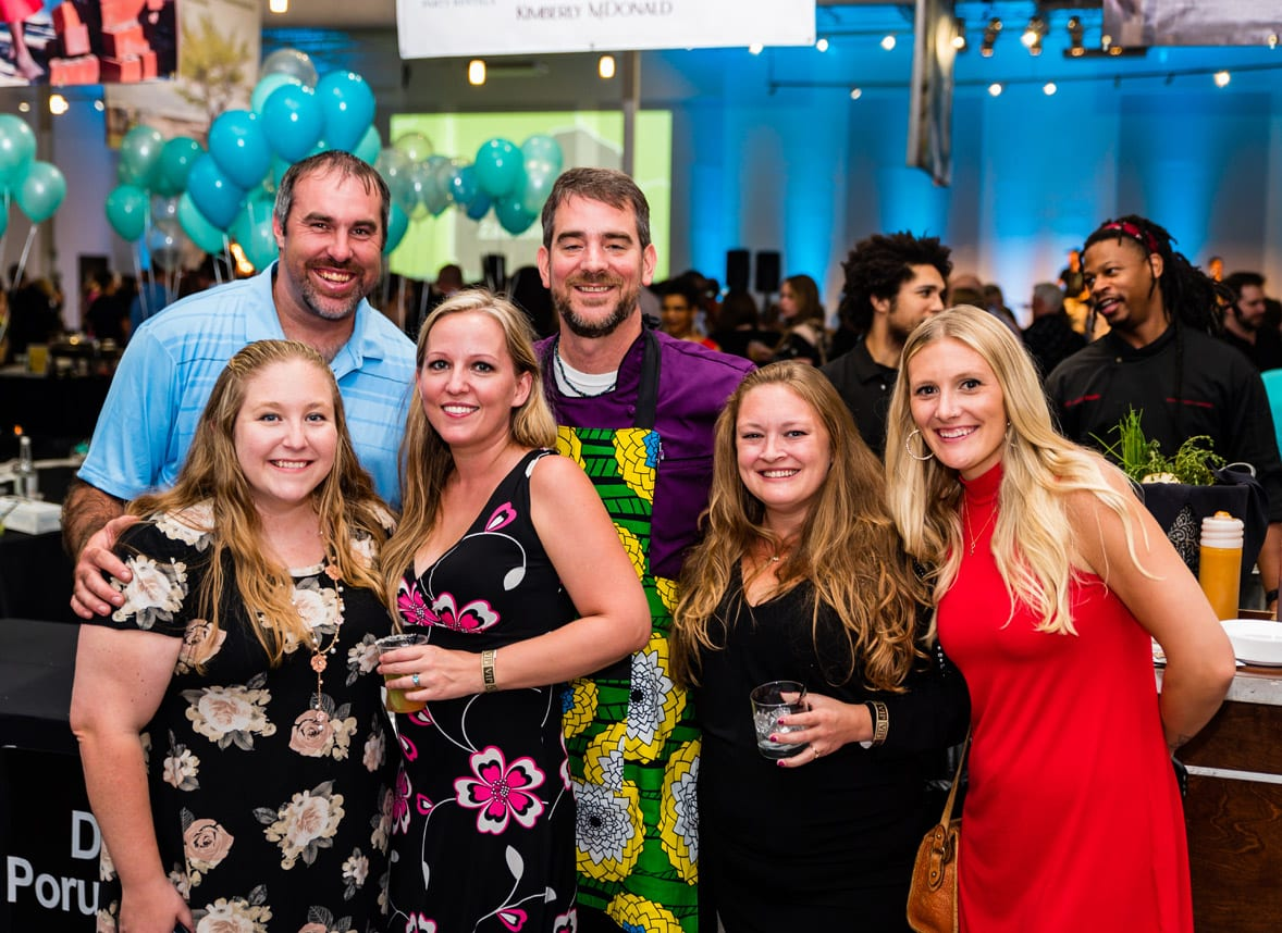 Simply Buckhead Magazine August 15, 2019 Eighth Annual Eats & Beats presented by Children of Conservation Left to Right: Chris and Ali Williams, Carly Shipp, Daniel Porubiansky, Jessic Paynter and Melissa Paynter  Photo Credit: Henri Hollis