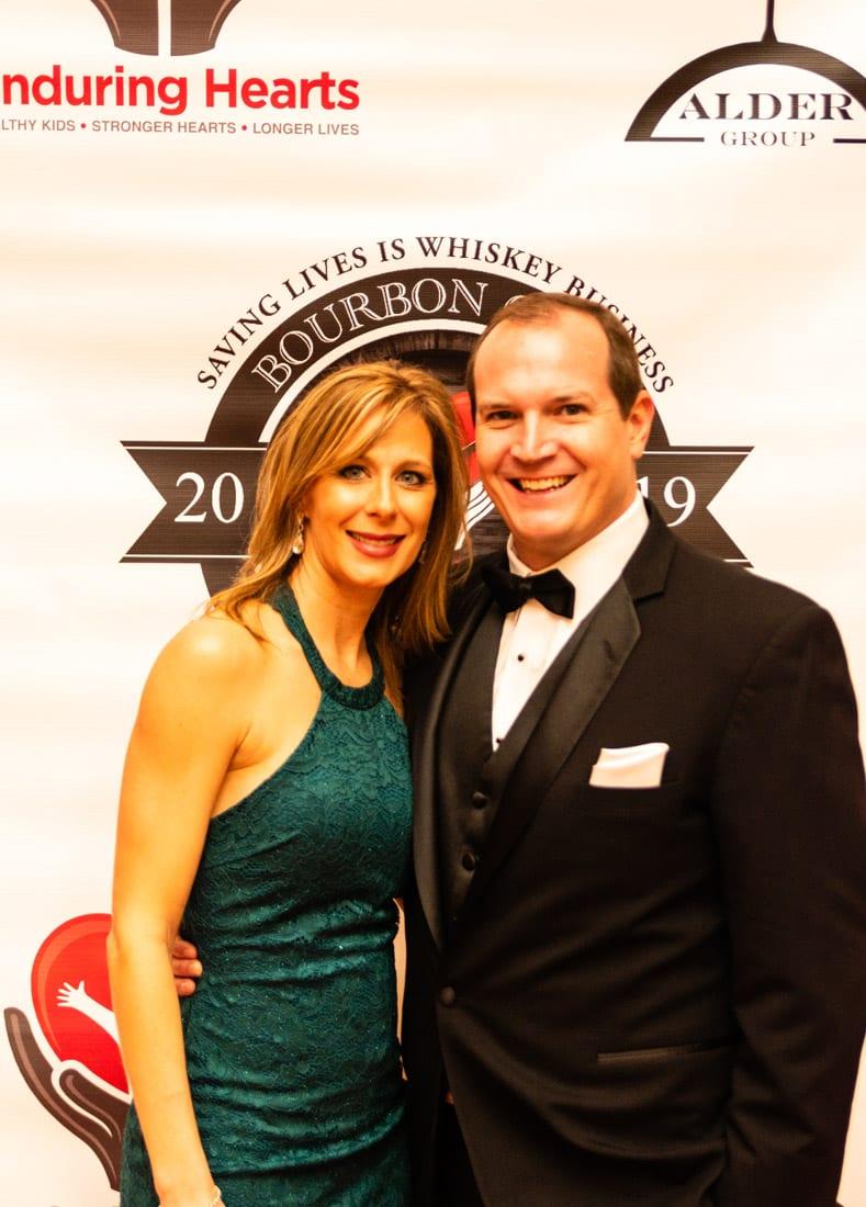 Simply Buckhead Magazine Enduring Hearts Bourbon Gala & Auction February 15, 2019 Amanda and David Hartin  Photo Credit: Henri Hollis