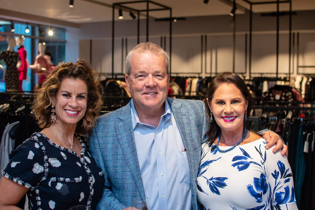 Simply Buckhead ACFB Fall for Fashion 2018 September 25, 2018 Caption: Joanne Hayes, publisher of Simply Buckhead and 17th South (right), with her husband Sonny and XXX. Photo credit: Henri Hollis