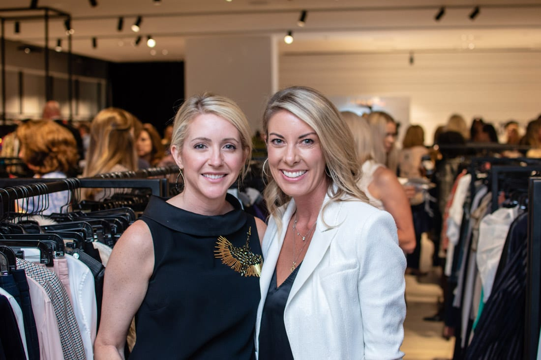 Simply Buckhead ACFB Fall for Fashion 2018 September 25, 2018 Caption: Ashley Alderman and Cary Faletti enjoy the reception prior to the fashion show. Photo credit: Henri Hollis