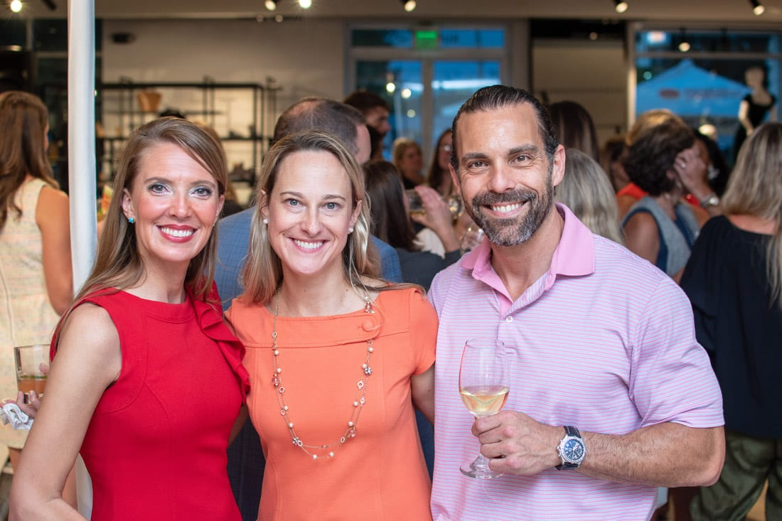 Simply Buckhead ACFB Fall for Fashion 2018 September 25, 2018 Caption: Tiffany Alewine, Lisa Sivy and Todd Silverman enjoying the event. Photo credit: Henri Hollis
