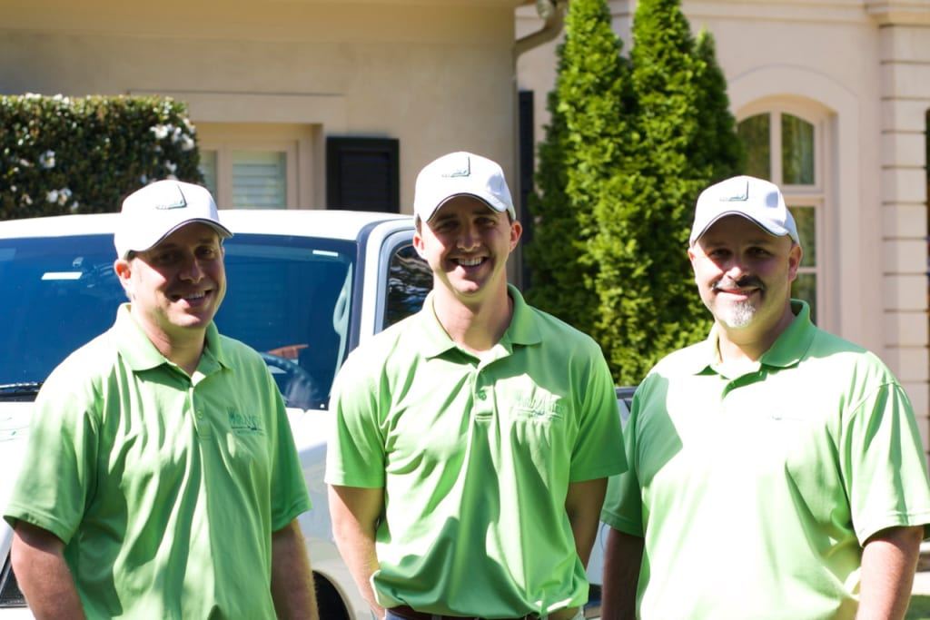 Jason Smith, Ryan Claterbaugh and Matt Brill of Mr. Mister Mosquito Control donate free misting to parks and schools to keep humans and animals safe from the disease-carrying pests.