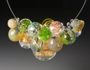 Necklace from artist Melissa Schmidt on display at the American Craft Council Show. Photo: American Craft Council