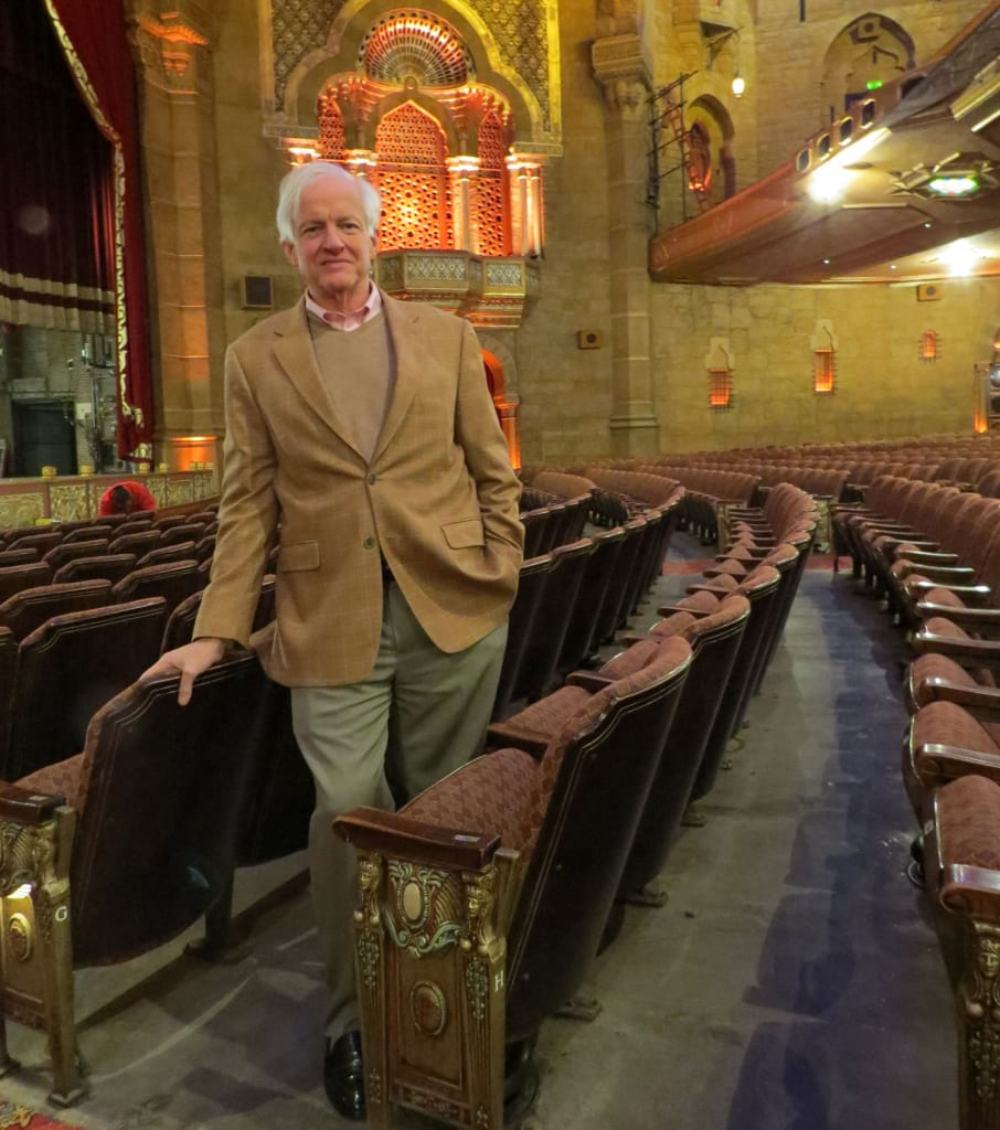 Beauchamp Carr stands on the floor of the Fox Theatre auditorium that was saved from the wrecking ball 40 years ago. The Buckhead resident was part of the grassroots effort to save the historic building.