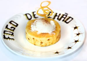 The brûléed pineapple with vanilla ice cream at Fogo de Chão is a lovely finish to a decadent meal.
