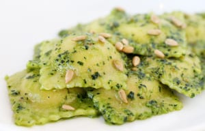 Housemade ravioli is rich, buttery and stuffed with the chef's choice of ingredients, such as artichoke.