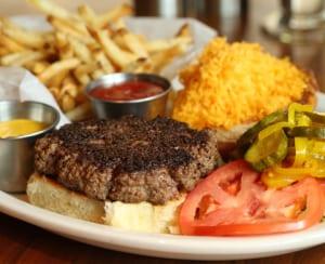 Smash Kitchen & Bar in Brookhaven offers solid burgers, including a straightforward ground brisket and chuck Steak Burger.