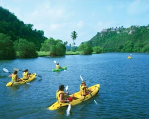 Kayaking along the Chavon River offers a chance to break a sweat and see wildlife up close.