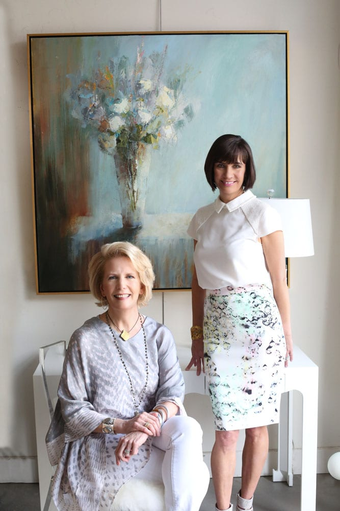 "Ann Huff (left) and Meg Harrington turned their passion for French art into a gallery which they expanded into an antiques shop full of ""crunchy and crusty things that ooze personality."""