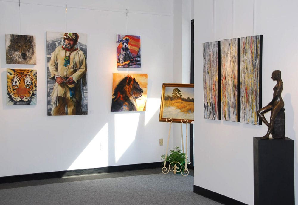 The Atelier Gallery recently added a dedicated space to showcase members works in a variety of media.