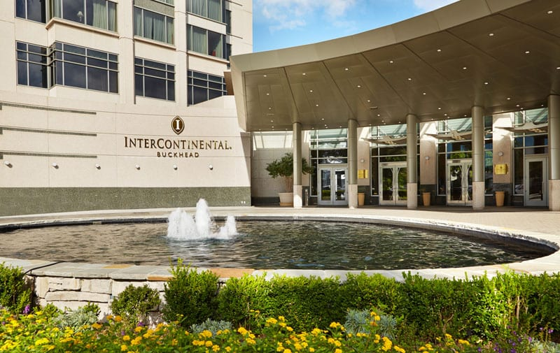 The InterContinental Hotel is just a few minutes from Buckhead's shopping hubs.