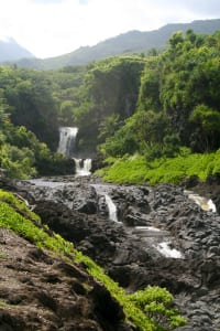 Oheo Gulch, often called Seven Sacred Pools, on the road to Hana.