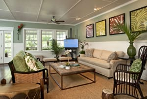 Lilikoi Lani's tropically themed living room was a welcome place to kick back and relax.