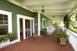 Lilikoi Lani's spacious lanai is home to numerous rocking chairs—ideal spots to park it for happy hour.