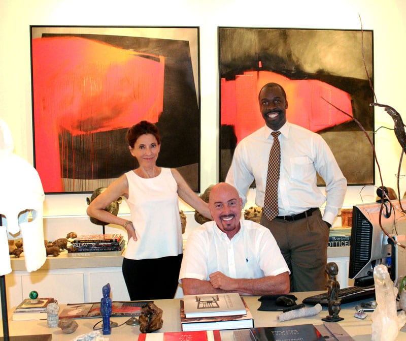 Bill Lowe (center), owner of the Lowe Gallery for 26 years, has made it his mission to connect artists and the community. He's joined in his efforts by his executive staff, Jeremiah Ojo (right) and Brenda Massie, who recently came on board as the gallery director.