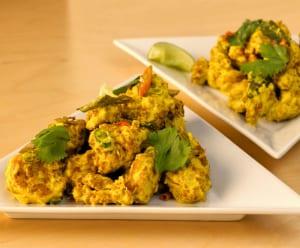Indian dishes, like deep fried cauliflower in a turmericyogurt sauce, abound at Garland.
