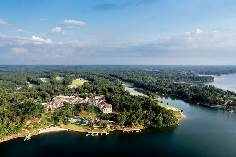 The Ritz-Carlton Reynolds Plantation offers 30 acres of shoreline on Lake Oconee.