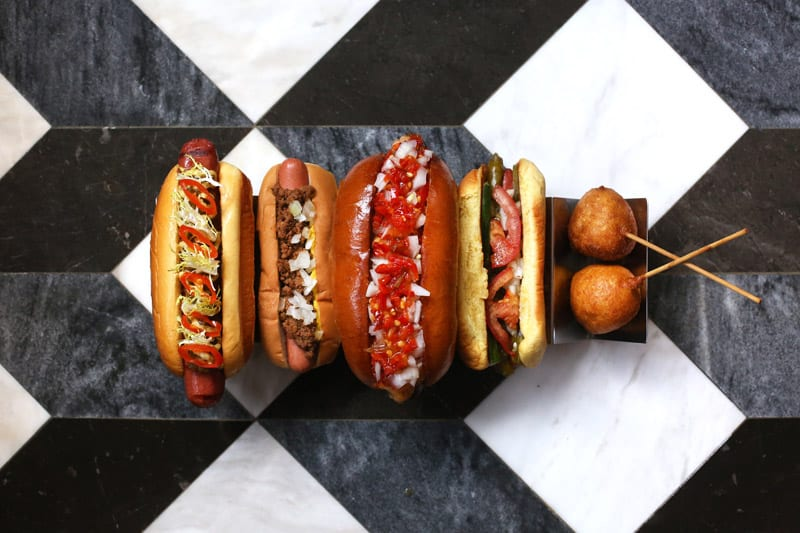 Favorite Hot dogs (left to right)