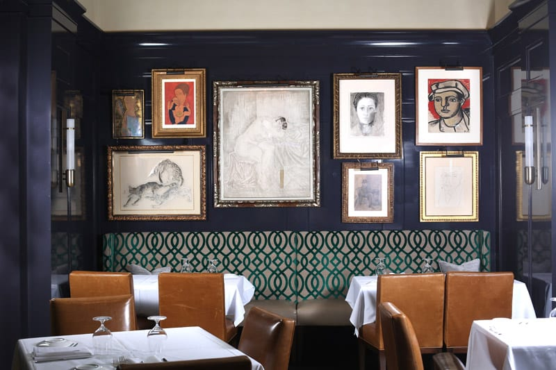 Pull up a seat next to Picasso: The walls of Atlas are lined with priceless original artworks from one of the world's most extensive private collections.