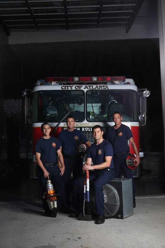 Firefighters Rodney Deese, Al Adkins, Jason Hogan and Kevin Moburg of Buckhead's Station 21.